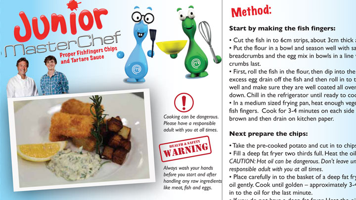 Fishfinger recipe