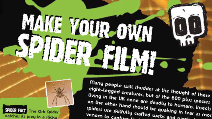 An excerpt from the instructions on how to make your own spider film.