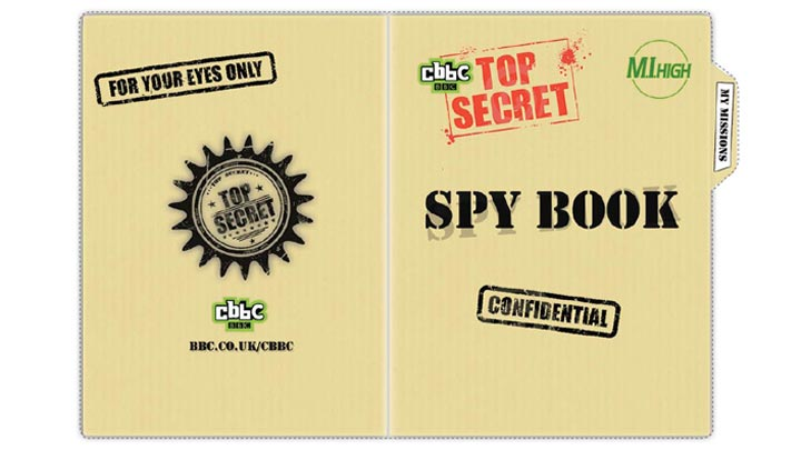 M.I. High Spy Book cover with logo