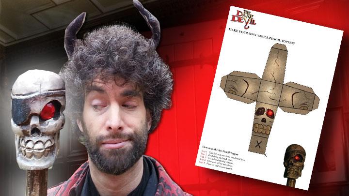 The Dare Devil Skull Pencil Topper