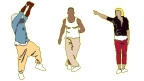 Illustrations of dancers from the poster.
