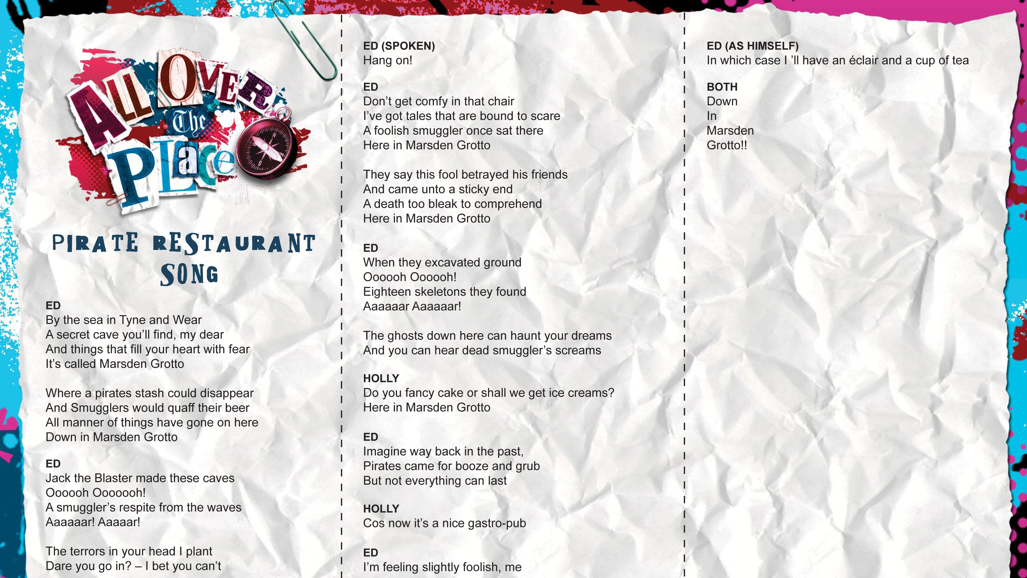 Pirate resturant song lyrics