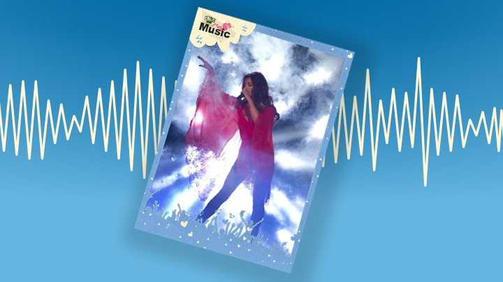 Cheryl Cole music poster.