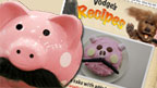 Pig with 'Tache and recipe card