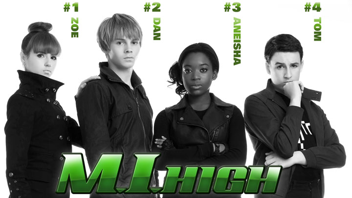 Zoe, Dan, Aneisha and Tom from M.I. High