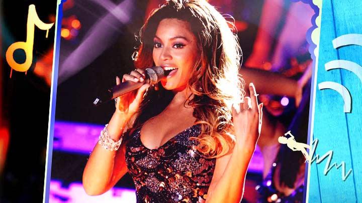 Beyonce singing.