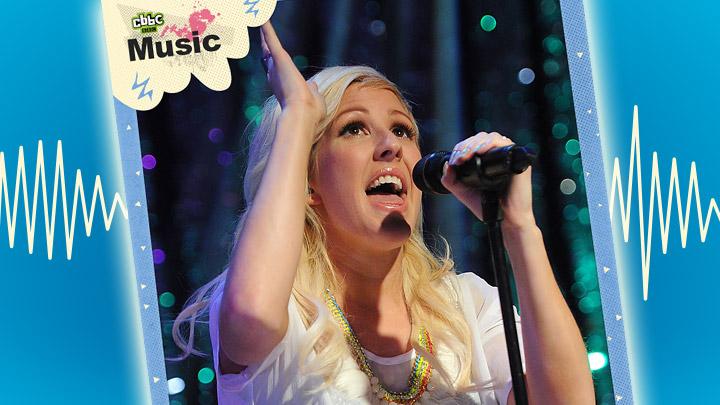 Ellie Goulding sings on stage 2012
