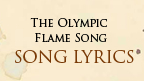 The Olympic Song lyric sheet.