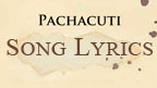 The words Pachacuti Song Lyrics written on ancient parchment