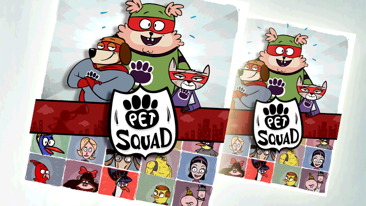 Pet Squad characters and logo