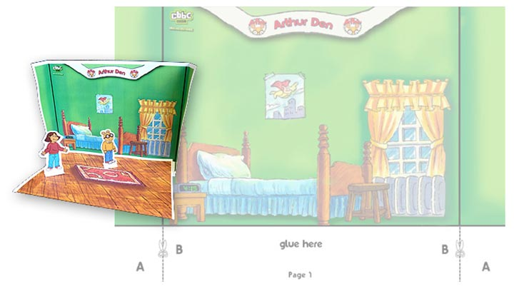 Paper version of Arthur's bedroom.