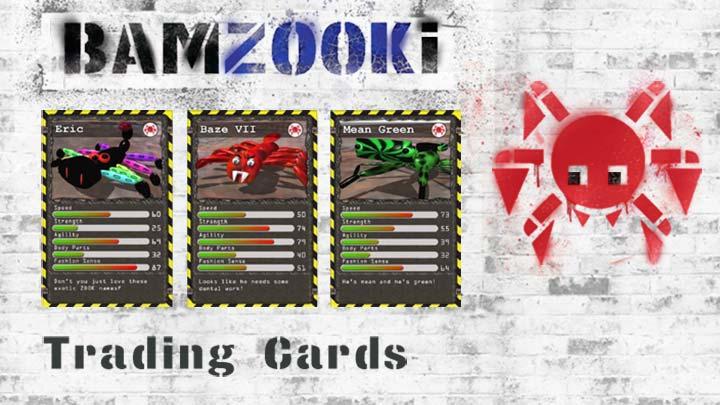 Three Bamzooki Trading Cards