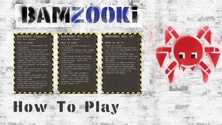 Three Bamzooki How to Play Cards.