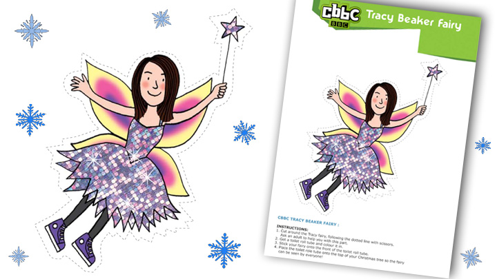 Tracy Beaker Christmas Fairy print out.