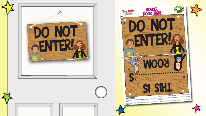 Image of the Tracy Beaker Door Sign.