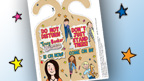 Door hanger decorated with Tracy Beaker characters.