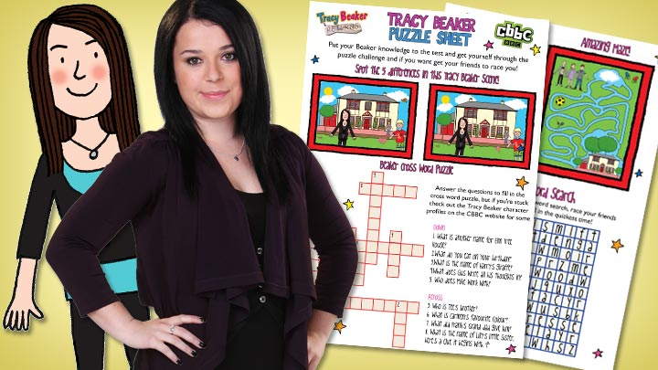 Puzzle pack and Tracy Beaker.