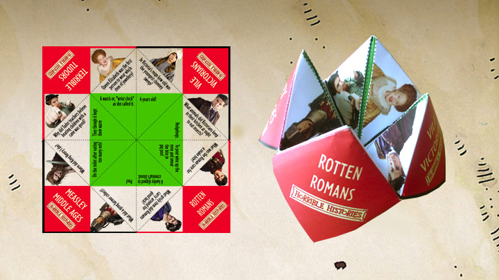 Horrible Histories Brainbuster printout and make.