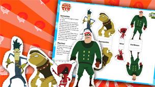 Image of the League of Super Evil Paper Pals.