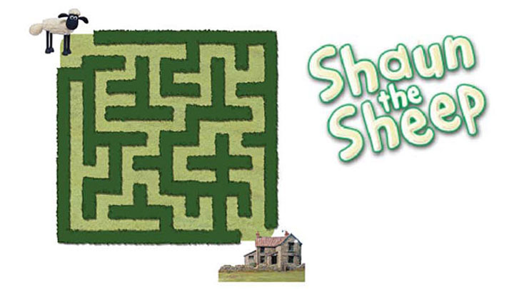 Shaun the sheep maze