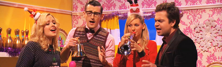 CBBC stars are singing passionately dressed up for Christmas