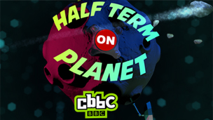 half term on planet CBBC graphics
