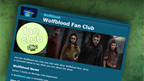An arrow pointing to the banner on the fan club page.