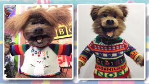 Hacker and Dodge, Christmas jumper design.