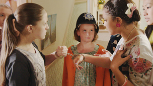 Jody and Carmen are handcuffed by Floss, The Dumping Ground.
