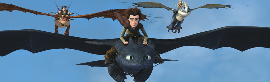 Hiccup and the Defenders of Berk.