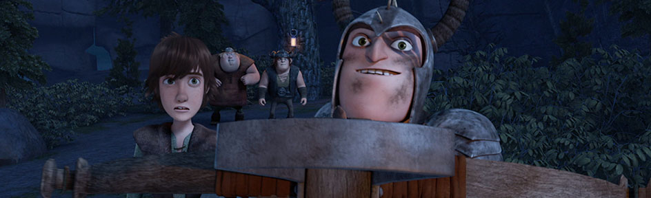 Hiccup and Dagur the Deranged.