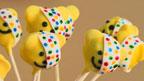 Pudsey Bear cake pops