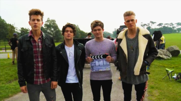 The Vamps being filmed for the Friday Download Movie
