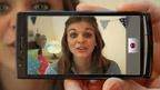 Lauren making a vlog.