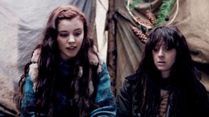 Jana and Ceri looking worried.
