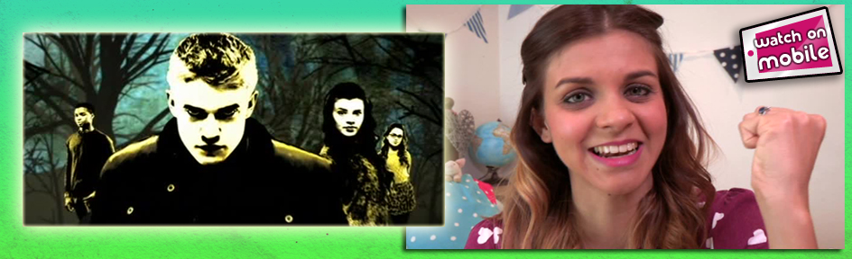 Lauren and an image from The Wolfblood titles