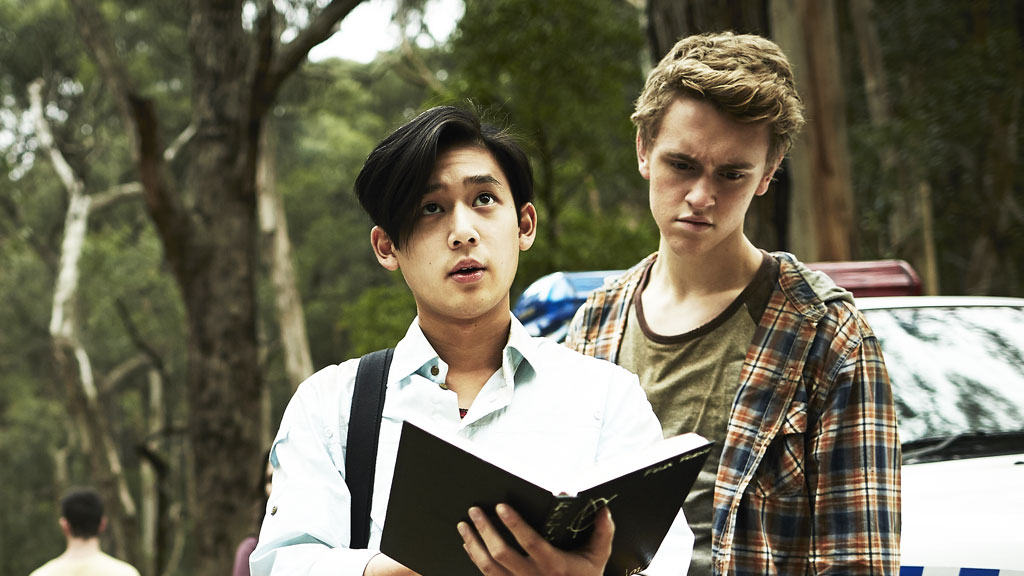 Andy from Nowhere Boys trying to cast a spell.