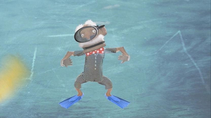 Mike McCork swimming