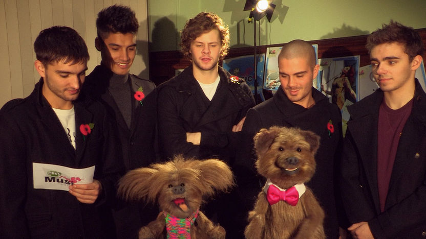 The Wanted stand behind Hacker and Dodge