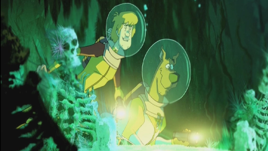 Scooby-Doo and Shaggy underwater
