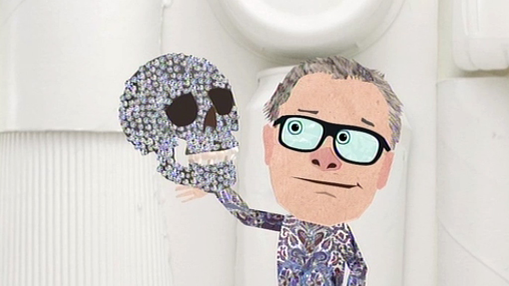 An animated Damien Hirst