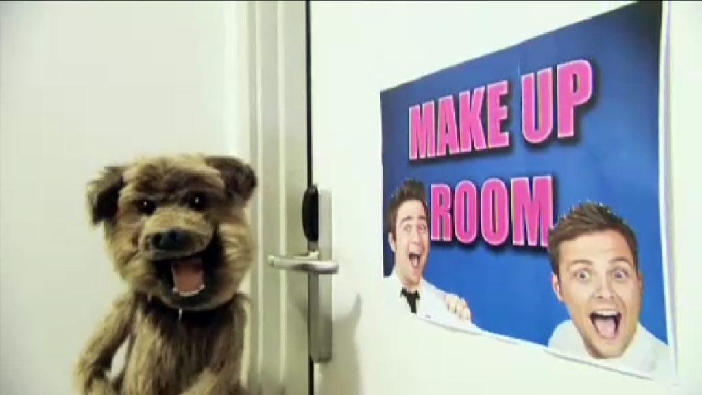 Hacker outside a make-up room