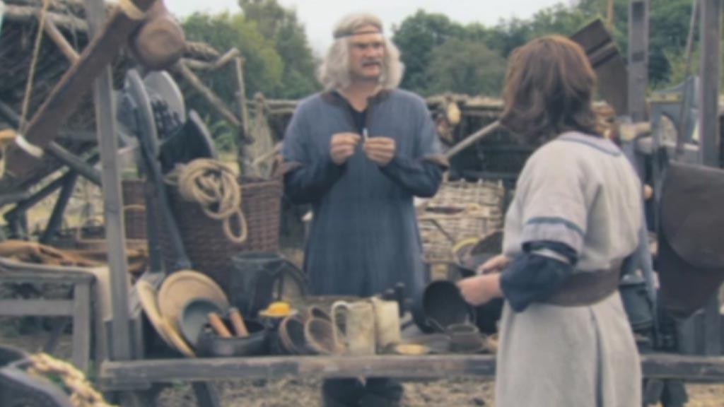 Market trader and villager