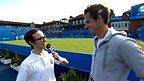 Gary Ogden and Andy Murray at Wimbledon.