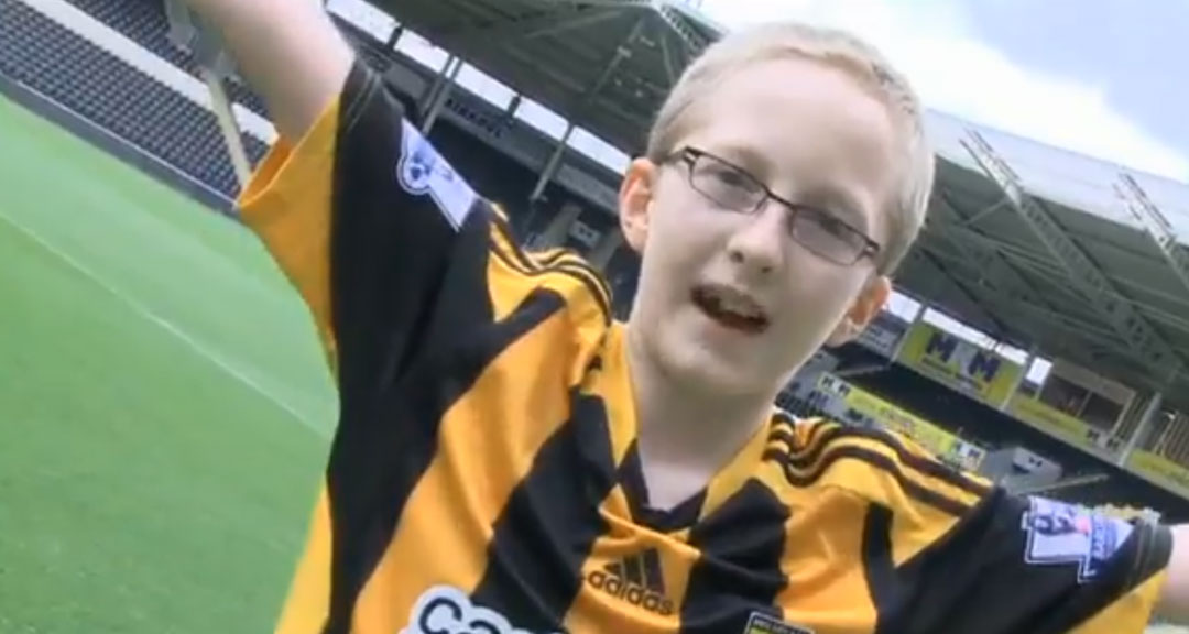 Thomas, a Hull city Tigers fan.