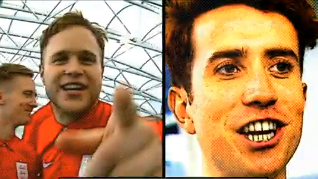 Olly Murs and Nick Grimshaw