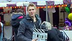 Bobby Lockwood on the set of Wolfblood