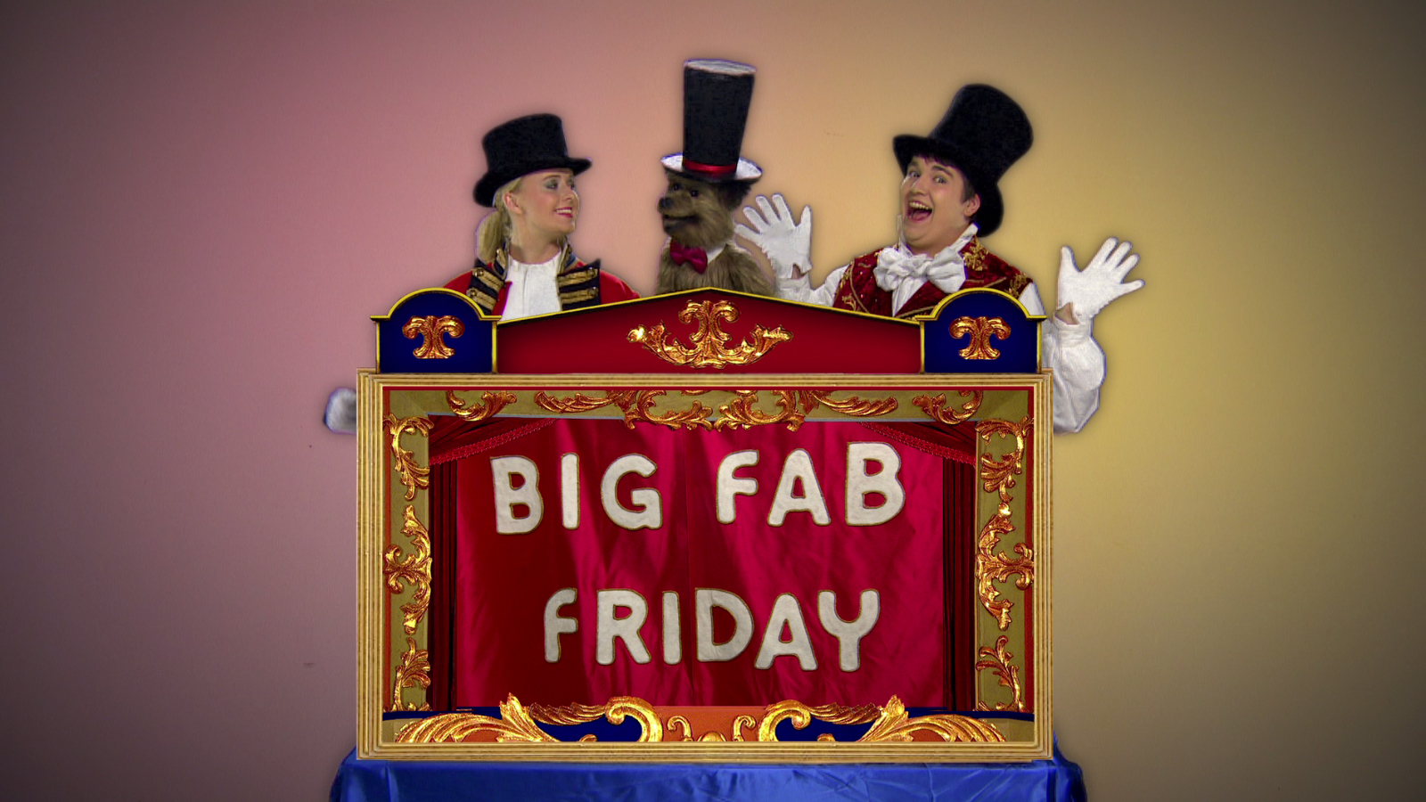 Katie, Chris and Hacker in the Big Fab Fridays song