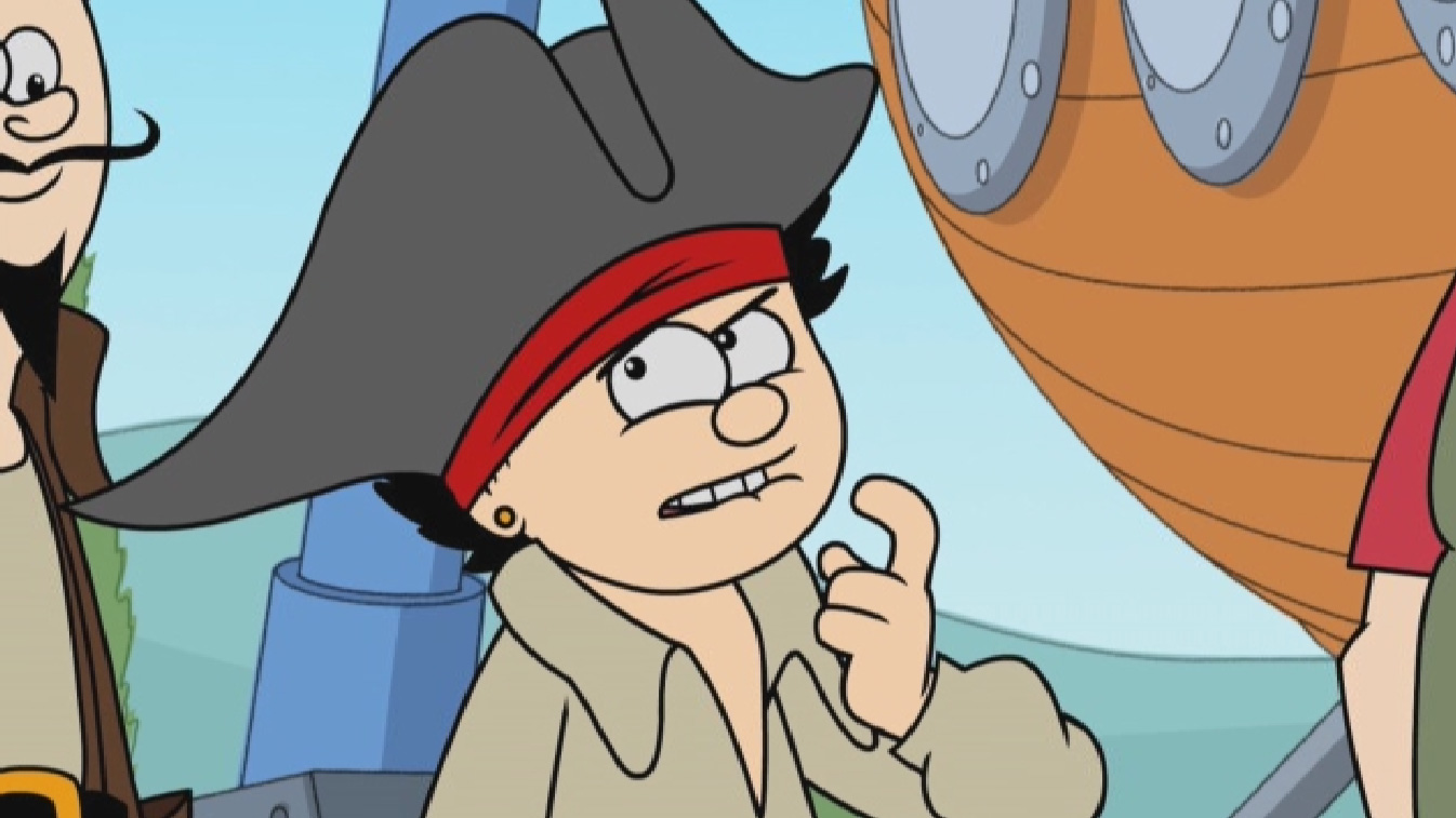 Dennis dressed as a pirate.
