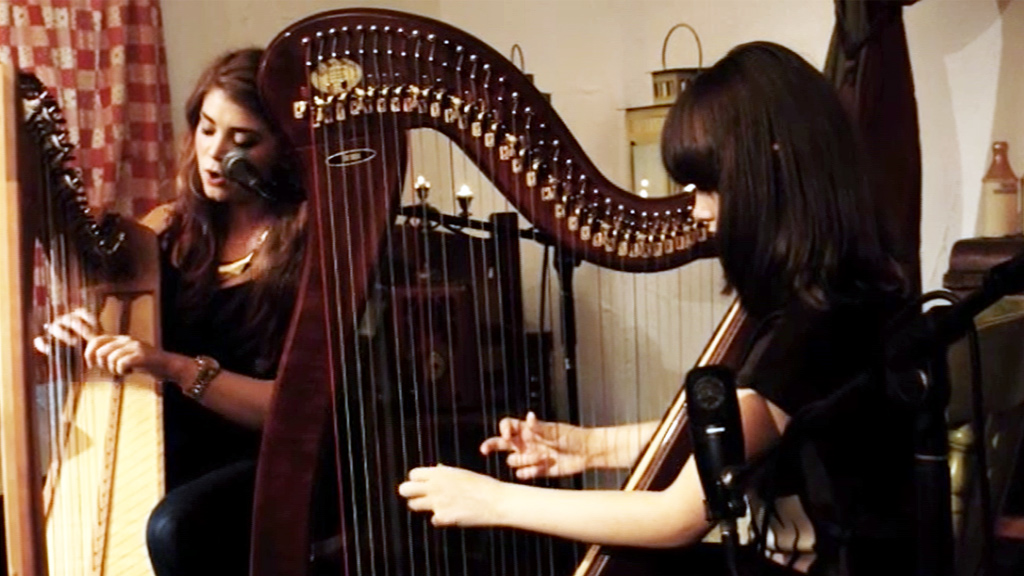 Halo performed on a harp